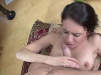 Young sexy musician does audition of her tight pussy