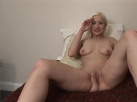 Powerful orgasm is making a blonde babe lightheaded