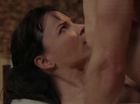 Dark-haired milf is desperate to get laid