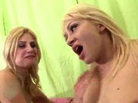 Double blonde surprise for a horny guy