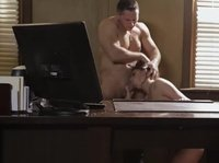 Bad secretary is punished with a hard dick