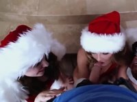 Naughty Santas are making every guy's dream come true