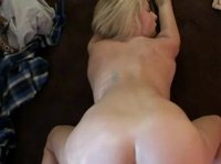 Amazing blonde bends over for rough fucking