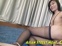 Asian hooker gets fucked on the floor