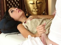Her girlfriends told her this will be very special massage