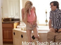 Sexy mom is teaching teens about birds and bees