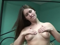 Pretty 20 year old gets to use her vibrator again