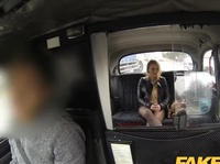 Fake cab driver thanks a slut with a facial
