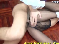 Petite Asian sailor takes it in the ass in a hotel room