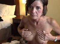 Freaky granny takes a cum load on her face