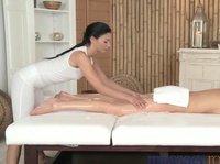 Slim beauties enjoy mutual massage