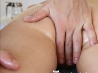 Brutal masseur gets horny at work