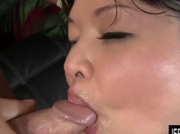 Fat Asian loves a good sausage