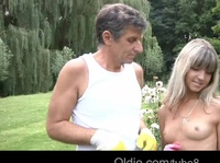 Old guy finds there is more than one ho in his garden