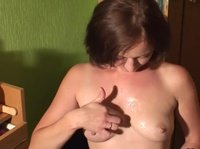 Moscow girl performs oral sex on her husband