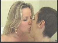 Short-haired butch seduces her blonde girlfriend