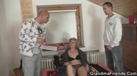 Horny granny wants two young dicks