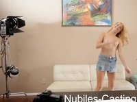 Young blonde shows her best at the casting