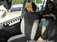 Czech babe goes wild in the taxi