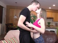 Big surprise for a naughty coed