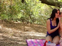 Picnic for two horny babes