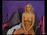 Young angel like blonde is asked to perform on cam