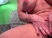 Busty girl with pierced nipples love a good pussy game