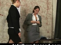 Skinny babe goes through a very wild job interview