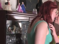 Chubby redhead falls in love with a blonde babe