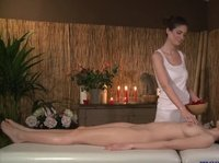 Massage client turns out to be very horny