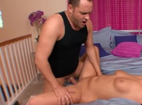 Naughty blonde is punished for masturbating