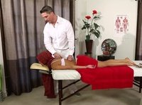 Muslim chick has her first naughty massage experience