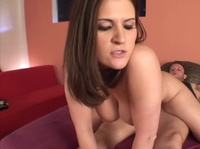 Young chubby babe feels a little shy at first but the geeky dude chats her up