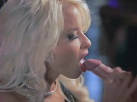 Blonde angel proves her sucking abilities again