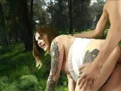 Fat Tattooed Bride Takes HUbby's Dick for the First Time