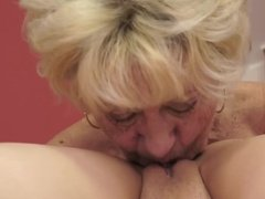 Horny Granny Meets Young Pussy for Fun