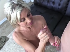 Blonde MIlf Never Wears Panties