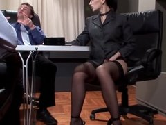 Horny Business Lady Uses her Assets to Negotiate