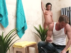 Working man is ambushed by a horny housewife