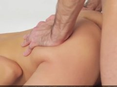 Teen girl makes her boyfriend fuck her