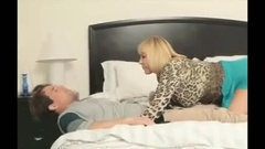 Heavy landlord lady gets with her young tenant