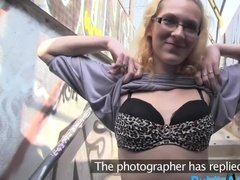 Teen Czech girl tries really hard to become a model