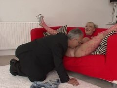 Grandpa gets lucky with a real life whore